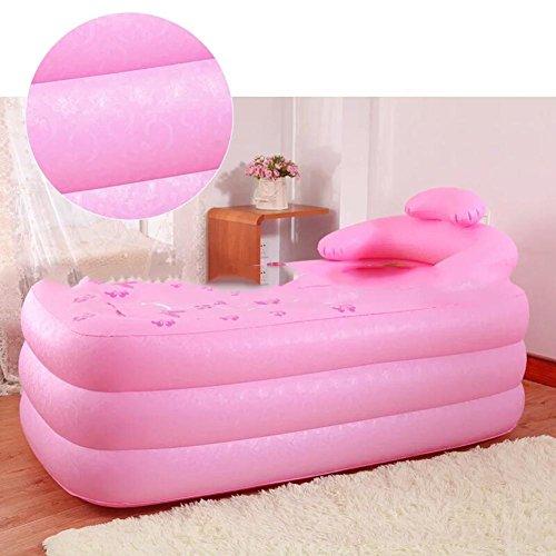 Baignoire gonflable adulte portable pratique Baignoire Sauna La baignoire pliante QLM-Baignoire gonflable et bain gonflable (Couleur: Vert) , Pink