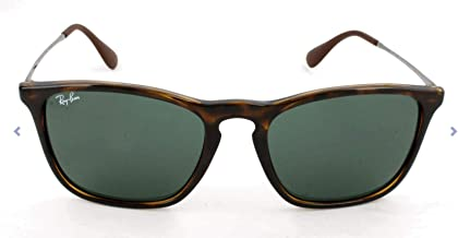 Ray-Ban RB4187 Tortoise Chris Sunglasses with Green Classic Lens, 54mm