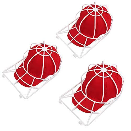 Hat Washer for Washing Machine,3 Pack Ball Cap Washer for Dishwasher,Curved Flat Bill Plastic Hat Frame Cage for Washing,Baseball Cap Cleaner Holder Wash Shaper Protector,Dishwasher Hat Cleaning Rack (3 Pack)