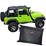 BADASS MOTO for Jeep Sunshade fits 1996-2006 Jeep TJ Bikini Top Keeps You Cool. Reduces UV, Wind & Noise. Easy No Tool Install Full Length for Jeep Wrangler Sun Shade for Jeep Lover Gifts Accessories
