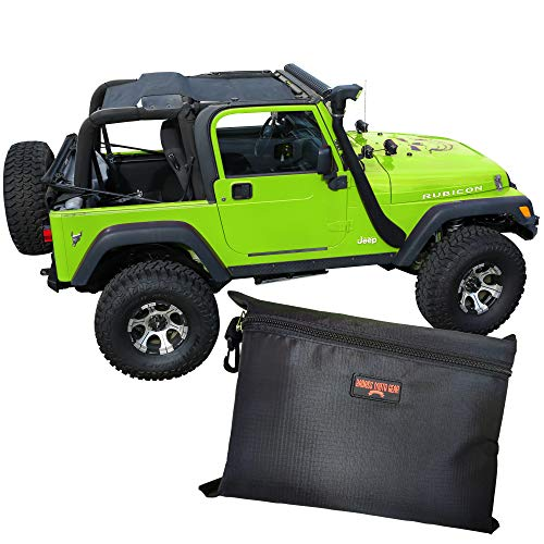Badass Moto for Jeep Sunshade for Jeep Wrangler Top Mesh. Keeps You Cool. Reduces UV + Wind & Noise. Easy No Tool Install Sun Shade Top for Jeep Lover Gifts Accessories (1996 - 2006 TJ (Full Length))