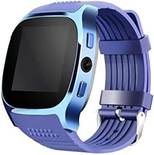 Highpot Smart Watch T8 BT3.0 Smart Wrist Watch Support SIM and TFcard Camera Pedometer Sport Tracker for iOS iPhone Android (Blue)
