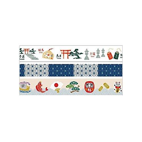 MARK 'STYLE TOKYO mast? Washi-Set di 3 rotoli, giapponese, 3 pezzi