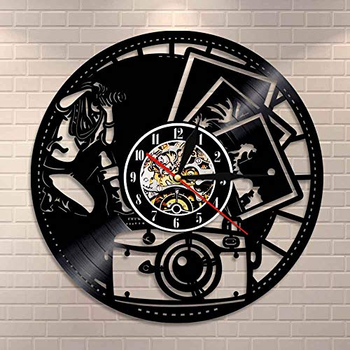wtnhz LED-vinyl record wall clock CD Record Wall Clock LP Vinyl Vinyl Music Record Clock Vinyl Record Vinyl Clock Gift Home Decor Art