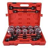 Extractor de rodamientos de ruedas, 27 unidades, universal, herramienta de introducción de cojinete de cojinete