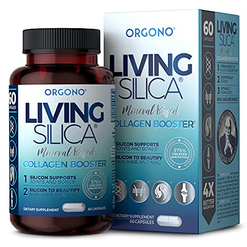 Living Silica Collagen Booster Capsules   Ultra High Absorption   Supports Healthy Collagen and Elastin Production for Joint & Bone Support, Glowing Skin, Strong Hair & Nails