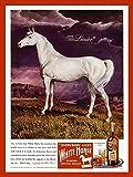 Blanco Caballo sótano whisky escocés reproducción anuncio Metal signo Home Wall Tin Sign 30x20cm Decoración