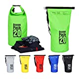 Relaxdays Ocean Pack, 20L, wasserdicht, Packsack, leichter Dry Bag, Trockentasche, Segeln, Ski,...