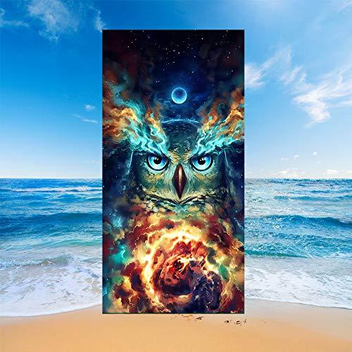 Sticker Superb. Lobo Caballo Pingüino Búho Perro Gato Toalla de Playa Manta de Playa de Microfibra Rosa Absorción de Agua Regalo de Playa de Vacaciones de Viaje Baño Piscina (Multicolor 4,80x160cm)