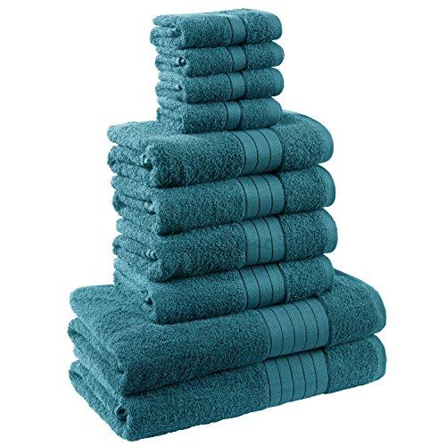 Dreamscene morbido asciugamani Set Regalo, Cotone, Foglia, 10pezzi