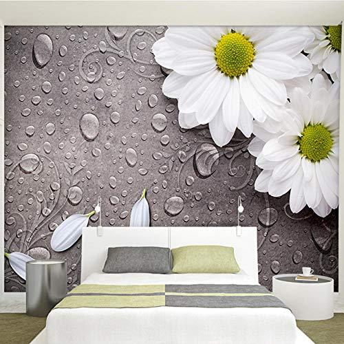 JIAOYK Art Fototapete Gänseblümchen 3D Wandbilder,Vlies Tapete,Bilder,Fotoposter Für Fernseher Hintergrund Wohnzimmer,Moderne Wanddeko 200cm(W) x150cm(H)