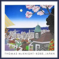 ポスター トーマス マックナイト 神戸 日本 額装品 ウッドベーシックフレーム(ブルー)