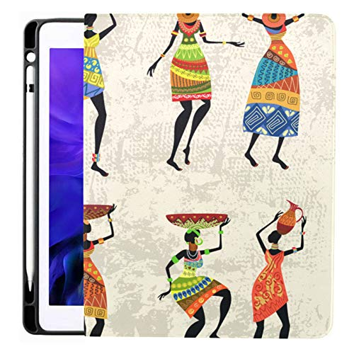 Ipad Pro 12.9 Case 2020 & 2018 With Pencil Holder African Woman On Grunge Smart Cover Ipad Case, Supports 2nd Gen Pencil Charging,case For 2020 Ipad Pro 12.9 Cover With Auto Sleep/wake