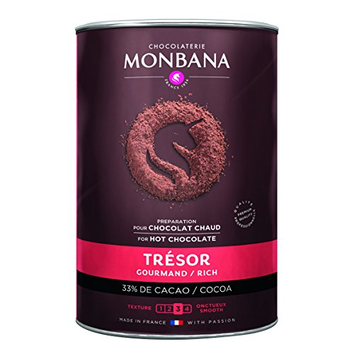 MONBANA cioccolato in polvere, 1 kg tesoro Monbana, preparato per cioccolato gourmet, cioccolata calda