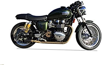 Radiant Cycles Shorty GP Exhaust for 2004-2016 Triumph Thruxton BLACK