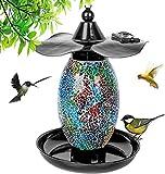 MOPHA Mangiatoia per uccelli a energia solare, da appendere alla casetta per uccelli da giardino, per la coltivazione di uccelli selvatici, decorazione per esterni