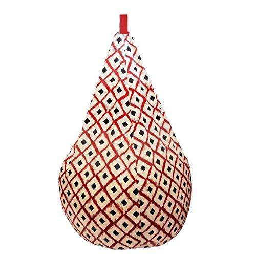 Poire 100% Coton imprimé Boho 75x110cm - Rouge
