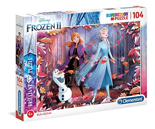 Clementoni- Puzzle 104 Piezas Efecto Diamante Frozen 2, Multicolor (20161.7)
