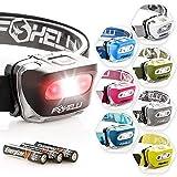 Foxelli Headlamp Flashlight - 165 Lumen, 3 x AAA Batteries Operated, Bright...