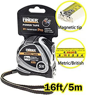Finder Magnetic Tape Measure, Measuring Tape Self Lock 16ft Inch/cm Metric, Retractable Measuring Tape with Wrist Strap fo...