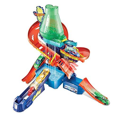 Hot Wheels Laboratoire des couleurs, coffret de jeu pour petites voitures Color Shifters avec circuit et pistes, Jouet pour enfant, CCP76
