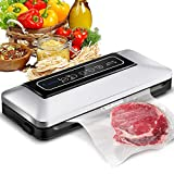 Aobosi Vacuum Sealer/5 In 1 Automatic Food Sealer Machine for Food Storage and Preservation with Dry&Moist Modes for Sous Vide,Led Indicator Lights&Started Kit of Rolls&Hose for Home 12 x 6 x 2 inches