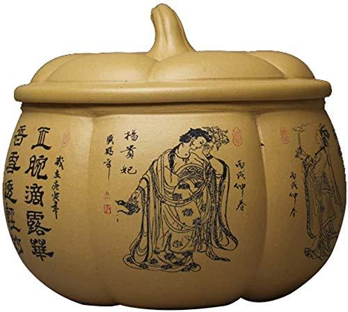 Ataúdes y urnas Memorial urna de arcilla púrpura / púrpura de arena de cerámica cremación urnas for cenizas humanas o de las cenizas del animal doméstico, monumento del entierro funeral urna, China an