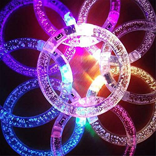 ZPFDM Pulsera Luminosa LED de 10 Piezas, Suministros de Fiesta, Suministros de Juguetes iluminados para Navidad, cumpleaños, Accesorio Brillante para niños y Adultos