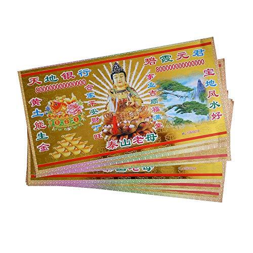 ZeeStar 280pcs Joss Paper Hell Bank Note $980,000,000,000 Chinese Joss Paper Money Smooth Sailing