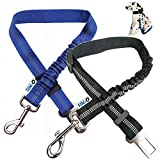 O³ Cinturon Perro Coche Homologado 2 Uds – Correa Perro Coche Elásticas con Luz Led para Collar- Cinturón de Seguridad de Coche para Perro Ajustable