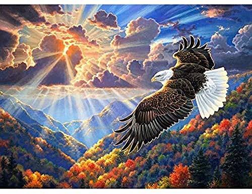 wangxiaoping Puzzle Adultos 1000 Piezas águila Rompecabezas de madera para adultos para adultos Juego educativo para aliviar el estrés Desafío Rompecabezas de piso 75x50cm