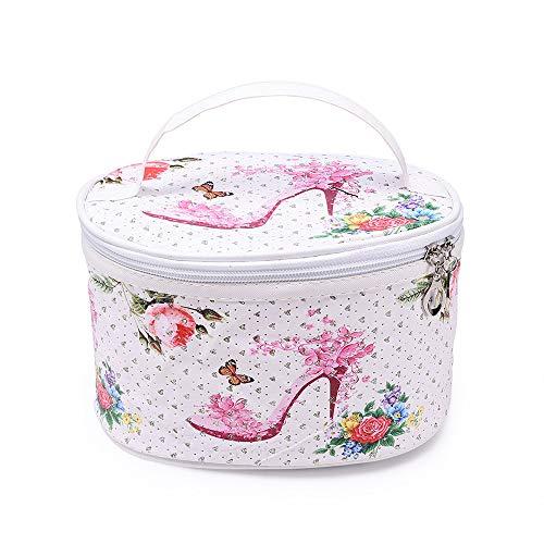 ODJOY-FAN Tragbar Aufbewahrungstasche Waschtasche, Mode Fass Geformt Reisen Kosmetiktasche Tasche, Make-Up Taschen für Damen(C,1 PC)