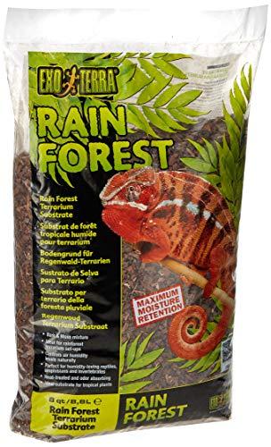 Exo Terra Rain Forest, Substrat für Regenwald Terrarien, 100{acadb209e3e620053ccb0a7250bfaf7d67fcfa5edd6b8f1cc3136747e8ad44a7} natürliche Mischung aus Strandkiefer und Torfmoos, 8,8L