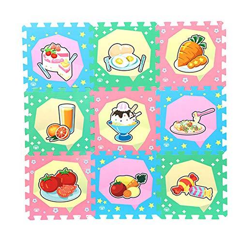 SETSCZY Alfombra De Espuma para Bebé Puzzle, 9 Piezas, Alfombra De Juego Muy Resistente para NiñOs, 30 Cm X 30 Cm