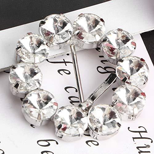 Seacanl 2 Piezas de Hebilla de Cristal de Diamantes de imitación, Accesorios...