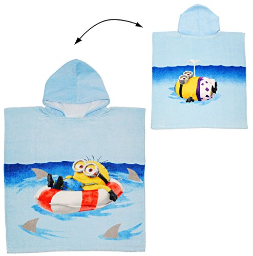 alles-meine.de GmbH Badeponcho -  Minions - Ich einfach unverbesserlich  - 4 bis 9 Jahre Poncho - 60 cm * 120 cm - mit Kapuze - Handtuch Strandtuch - 100 % Baumwolle - Minion S..