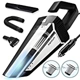 Car Vacuum, Corded 12V 120W 5000Pa High Power Portable Handheld Vacuum Cleaner with 16.4FT(5M) Power Cord, Strong Aluminum Fan, 2 HEPA Filter, Wet/Dry Use, for Car Cleaning