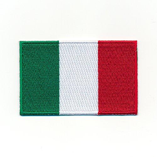 hegibaer 40 x 25 mm Italien Italia Rom Neapel Flagge Patch Aufnäher Aufbügler 0919 A