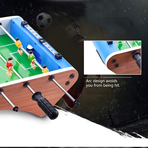 サッカーゲームテーブル、デスクトップクラシックフットボールテーブル2プレーヤー寮の家のための6本の棒