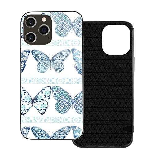 Handyhülle Butterfly Row Handyhülle für iPhone 12/12 mini/12 Pro/12 Pro Max Hartglas Rückseite + TPU für iPhone 12 Pro-6.1 Zoll