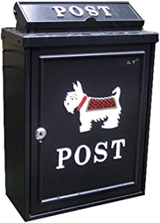 RMXMY European Outdoor Villa Mailbox Waterproof Creative Letter Box Mail Box with Lock Country Style Wall-Mounted Decorative Mailbox (Color : B)