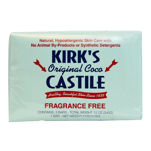 Kirks Coco Castile - Jabón, sin fragancia, 113,4 g