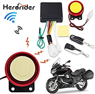 Kul-Kul - 1Set 12V Motorcycle Scooter Anti-theft Security Alarm System Remote Control Start Bike ATV Motorbike Protection for Suzuki ect