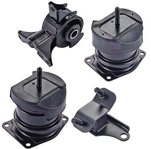 ENA Engine Motor and Rear Trans Mount Set of 4 Compatible with Honda Acura 1998 1999 2000 2001 2002 2003 Accord 3.0L TL 3.2L Replacement for A4507 A6552 A6579 A6592