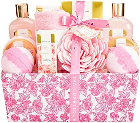 Bath Set for Women Spa Luxetique Spa Gift Baskets for Women Valentines Day Gift Sets for Women product image