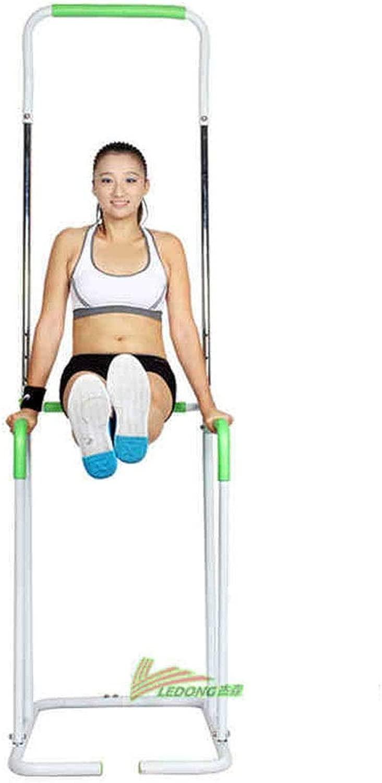 懸垂マシンぶら下がり健康器 多機能ポータブルプルアップバープルアップバーディップバーリムーバブルホームフィットネスステーション体操ストリートトレーニング (色 : 緑, サイズ : 90*60CM)