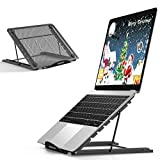 Portable Laptop Stand Adjustable Height Desktop Computer Laptop Riser Ergonomic Foldable Notebook Stand Tray Cooling Holder Compatible for All 10-15'Tablet
