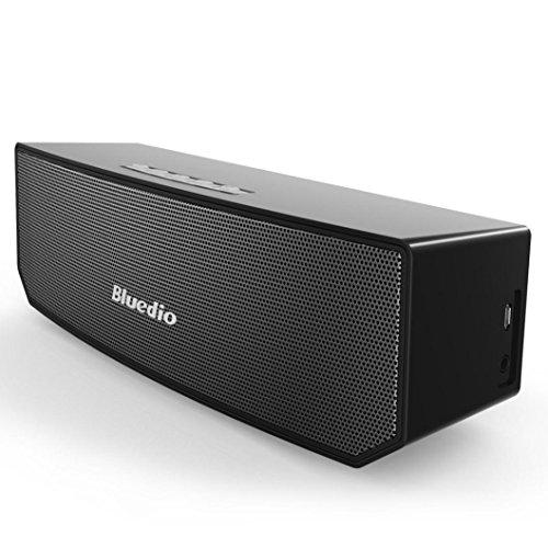 Fulltime Bluedio BS 3Bluetooth 4.1doppio altoparlante Bluetooth stereo wireless audio 3d Surround Sound Bar DSP 24Bit AD ALTA RISOLUZIONE 5W x 2per Smartphone e altri dispositivi Bluetooth, 7ore di Play, 22.7x 6.8x 7.4cm, nero