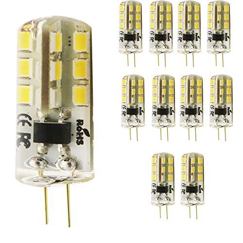 mengjay® Lot de 10G4Ampoule LED 4W, 3000K blanc chaud Ampoule LED 24SMD 2835LED Angle d'éclairage 360° CA 220V, G4, 4.00 wattsW, 220.00 voltsV