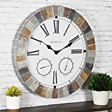 FirsTime & Co. Garden Stone Outdoor Wall Clock,...